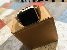 Apple Watch Series 1 42mm Gold Aluminum With Brown leather wristband