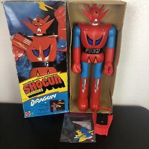 """Vintage 1976 Dragun Shogun Warriors 24"""" Mattel Original Box Accessories"""