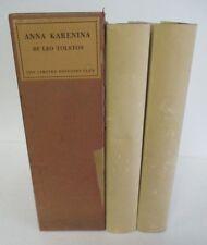 Leo Tolstoy ANNA KARENINA Limited Editions Club, 2 Vols in Slipcase 1951