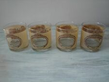 Set of 4 Houze Currier Ives Panoramic Whiskey Rock Juice Glasses / 4 Seasons VGC