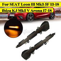 2X LED Dynamic Turn Signal Indicator Light For SEAT Leon III 5F Arona Ibiza Mk5