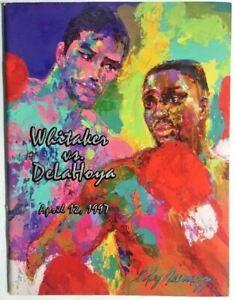 Oscar De La Hoya  vs Pernell Whitaker onsite program FLOYD MAYWEATHER JR # 6 - 0