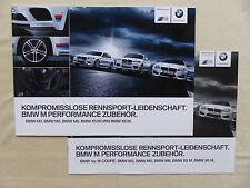 BMW M Performance ACCESSORI m3 m5 x5 M-prospetto LISTINO PREZZI + BROCHURE 07.2013