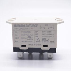 1Pc HLR6100-2ATUBCF 24VDC Compressor Relay 6 Pins 30A