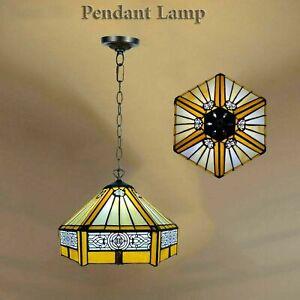Tiffany Multi Shade Pendant Lamp Stained Glass Modern Pendant Home Decoration UK