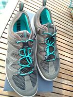 New Ecco Womens Terracruise Goretex Shoes/ Trainers UK 4.5 EU 37 Khaki Turquoise