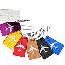 7pcs Aluminum alloy Luggage Tags Labels Strong Baggage Handbag ID Name Card Tag