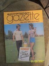 Showboat Hotel Casino Gazette Employee Magazine Dick Wise May/June 1979