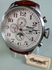 BNWT LIMITED EDITION BUFFALO III AUTOMATIC MOONPHASE  LEATHER  STRAP WATCH