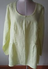 FLAX  Linen  Shirt    3G   NWT  Play In It   YELLOW