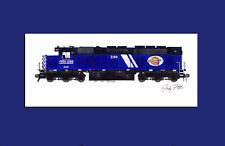 """Montana Rail Link SDP40 #290 11""""x17"""" Matted Print by Andy Fletcher signed"""