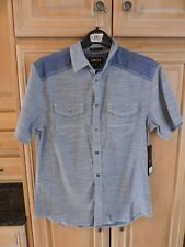 Men's Helix Athletic Fit Short Sleeve Button Down Shirt Size M NWT
