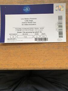 Used Lady Gaga ticket O2 London, 2018