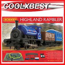 NEW HORNBY HIGHLAND RAMBLER TRAIN SET OO GAUGE 0-4-0 LOCOMOTIVE OVAL TRACK R1220