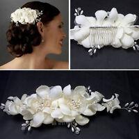 Luxus Haarkamm Strass Perlen Braut Haarschmuck Hochzeit Frisur Fest Mode Neu