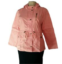 Women's Military Anorak Safari Hoodie 100% Cotton Utility Jacket Coat MAUVE