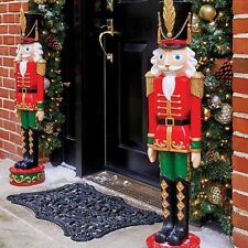 3 Foot Outdoor Life Like Nutcracker Toy Soldier Statue Sculpture Christmas Decor