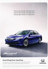 2017 Honda Accord Hybrid Original Advertisement Print Art Car Ad J923