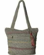 New The Sak Hand Crochet Waverly Striped Hobo Tote Satchel Hand Bag Purse NWT