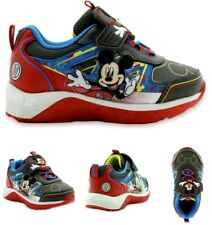 Disney Mickey Mouse Boys' Light Up Boys Sneaker Shoe - Red/Blue - Toddler