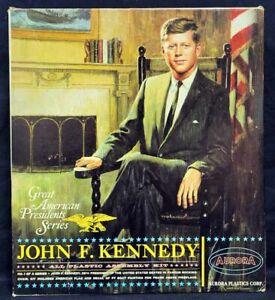 Aurora #851 1/12 Great American Presidents JOHN F. KENNEDY Square Box Issue Kit!