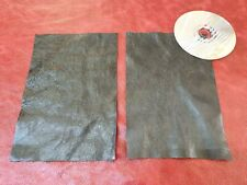 "Black 100% furtura Italian leather offcut 9""x6"" Craft Patch Repair Upcycle"