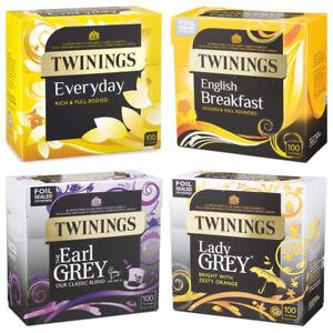 Twinings Everyday, English Breakfast, Afternoon, Earl Grey Assam Tea Bags