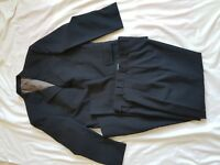 "MENS C&A BLUE STRIPE SUIT 38"" CHEST, TROUSERS 32/28"""