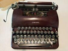 Smith Corona Silent Typewriter Burgundy