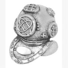NEW Divers Helmet diving Gift Pewter Tie Pin or Lapel Badge  NEW 9019