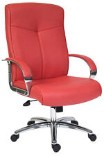 Hoxton RED Leather Executive Office Chair by Teknik office with free Delivery