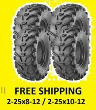 4 Six Ply Tires Rear 25X10-12 Front 25X8-12 Yamaha Big Bear 400 350 Grizzly 450