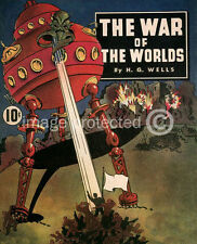 Orson Welles War of the Worlds Sci Fi Vintage 11x17 Poster