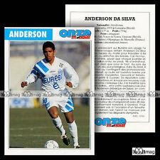 ANDERSON DA SILVA (SERVETTE GENEVE, OLYMPIQUE MARSEILLE OM) Fiche Football 1994