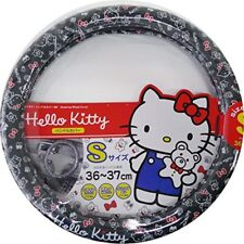 SANRIO Hello Kitty Car Handle Seering Wheel Cover Protection Black KT471 F/S