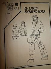 Parka Sewing Pattern 59 Snowbird Daisy Kingdom 6-18 Jacket Ladies Winter vtg UC