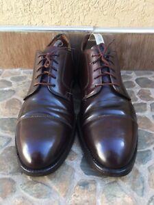 Alden 2160 Brown Shell Cordovan Cap Toe Blucher Men's Shoes Size 11 A/C / UK 10