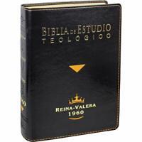 Biblia de Estudio Teológico RVR 1960 Piel Fabricada Negro con Indice
