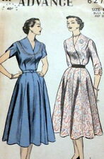 LOVELY VTG 1950s DRESS ADVANCE Sewing Pattern 14/32