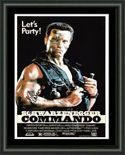 ARNOLD SCHWARZENEGGER - Commando - A4 SIGNED AUTOGRAPHED PHOTO POSTER  FREE POST