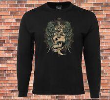 JB's Long Sleeve Black T-shirt Death  Before Dishonor Cool Design