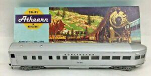 HO Athearn 1833 SL Burlington Observation Train Car 3246 Silver Fountain *READ