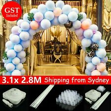 Balloon Arch Stand Pole Kit Clips Connecter Adjustable Wedding Party 3.1mx 2.8m