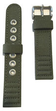 Original Citizen 20mm Men's Strap AT0200-05E Green Cloth Canvas Watch Band Strap