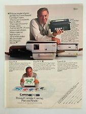 Canon Personal Copiers Vintage 1984 Print Ad