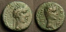 Kings of Thrace, Rhoemetalkes I, with Augustus AE19