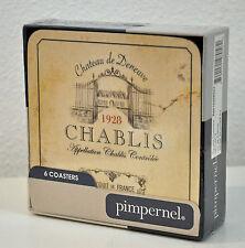 #10388 Vin de France Bordeaux 6er Set Untersetzer Portmeirion Pimpernel NEU