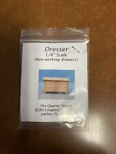 "Miniature Dollhouse Dresser 1/4"" Kit - The Quarter Source"