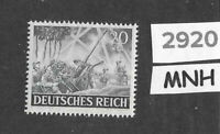 MNH stamp / 1943 /  PF20 + PF14 / Military Wehrmacht  / WWII Germany Army