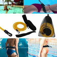 Adjustable Swimming Training Resistance Elastic Belt Exerciser Safety Rope Latex